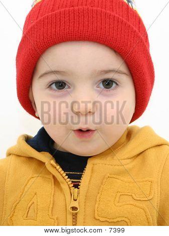 Junge im red Hat 08