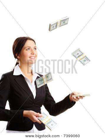 Throwing Up Dollar Bills