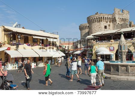 Old city centre of Rhodes, Greece