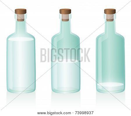 Bottle Water Full Half Empty