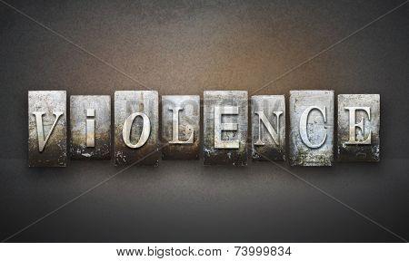 Violence Letterpress