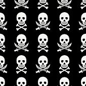 stock photo of pirate sword  - seamless pattern with pirate skulls crossbones and swords with clipping path - JPG