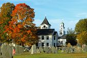 picture of revolutionary war  - A fall day in a small New England Town - JPG