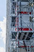 picture of scaffold  - Metallic scaffold in a modern building - JPG