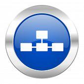 foto of cisco  - database blue circle chrome web icon isolated  - JPG