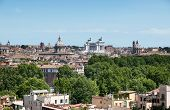 pic of emanuele  - Rome Skyline Vittorio Emanuele Monument and several ancient churches are visible - JPG