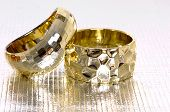 stock photo of bangles  - Two bangles  - JPG