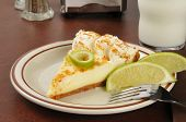 picture of milk glass  - A slice of key lime pie with a glass of milk - JPG