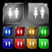 foto of female toilet  - WC sign icon - JPG