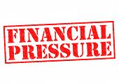 image of loan-shark  - FINANCIAL PRESSURE red Rubber Stamp over a white background - JPG