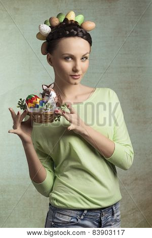 Spring, Colorful Woman