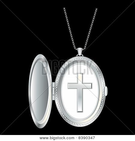 Silver Cross Locket