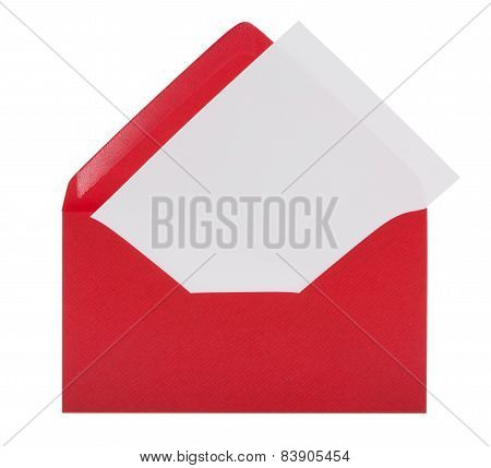 Red Envelope Including Clipping Path