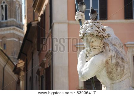 Neptune Fountain in Rome, Italy