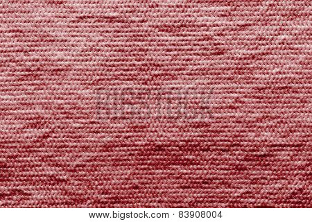 Texture Wadded Fabric Of Red Color