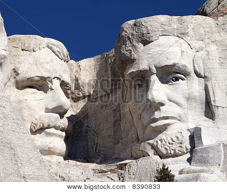Roosevelt and Lincoln on Mount Rushmore