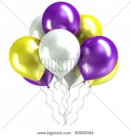 shiny ballons