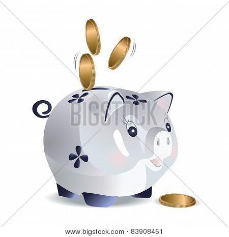Blue cash pig