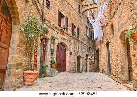 picturesque corner in Volterra, Tuscany, Italy