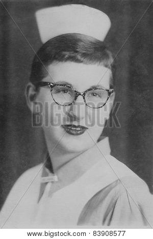 Vintage Nursing Student