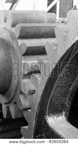 Original Gear Mechanism For Raising Lowering Murray Morgan Drawbridge