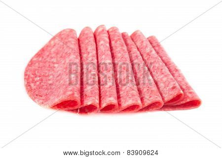 Several Slices Of Salami
