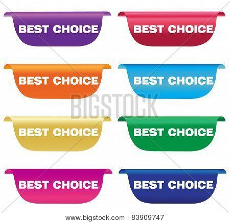 Best choice, labels, horizontal, vector, illustration