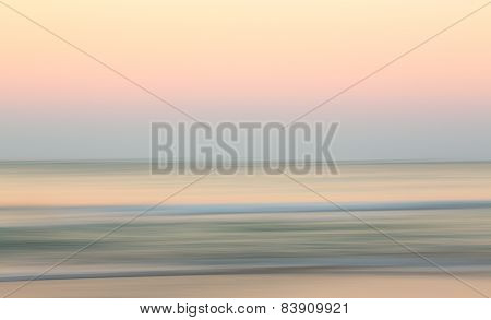 Sunrise Over Ocean With Sideways Pan