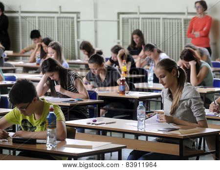 Group school exam