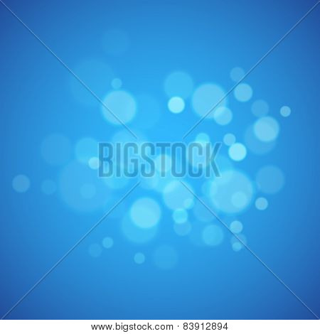 Blue background with defocused lights