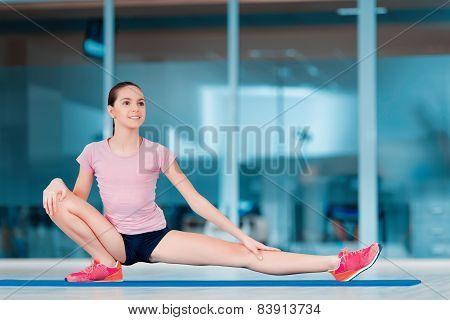 Cute teenage girl at sports club