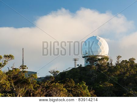 Radome Radar Device Waimea Canyon Kauai