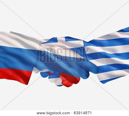 Russia Greece Handshake