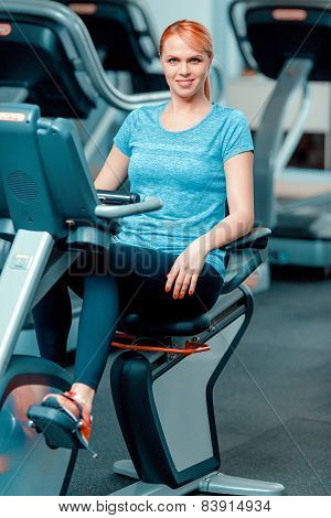 Attractive mature woman at sports club