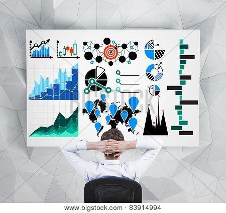 Businessman Looking At Drawing Chart