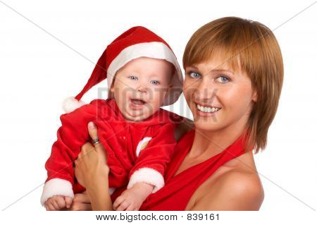 Santa Baby And Mother