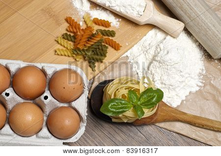 Pasta And Ingredients For Pasta