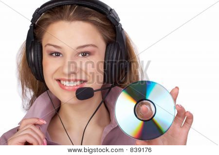 Business Woman And Cd