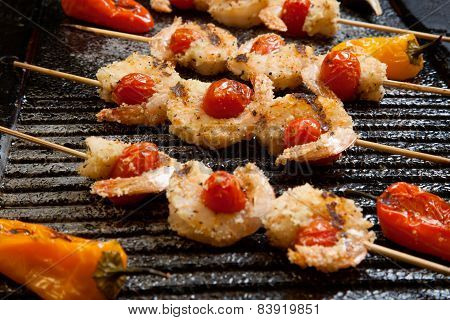 Grilled Parmesan Shrimp