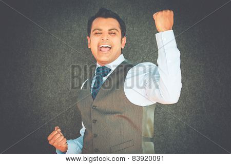 Triumphant Victorious Man
