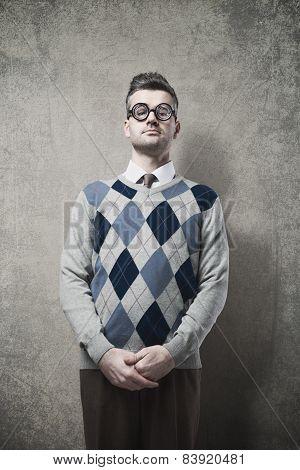 Nerd Guy Posing
