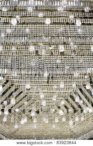 Crystal Strass Lamp White Over Black Background Luxury Interior Design