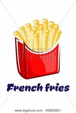 Cartoon french fries in red box