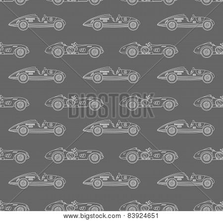 retro racing car pattern