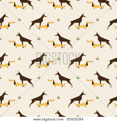 dachshund and doberman dog pattern