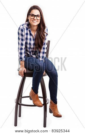 Cool Girl Sitting On A Chair