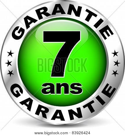 Green Warranty Icon ( French Translation )