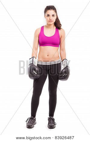 Fearless Female Boxer