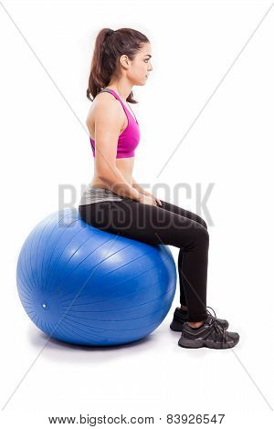 Sitting On A Swiss Ball