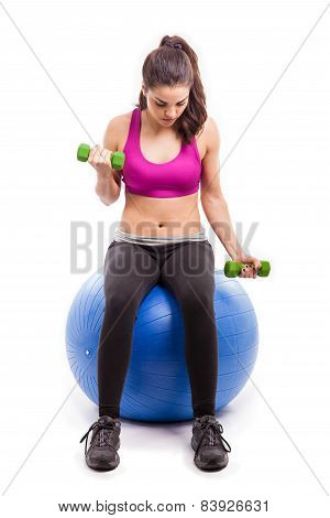 Working Out On Stability Ball